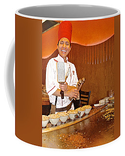 Entertaining Chef At Benihana In Monterey-california Coffee Mug