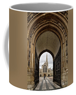 Entrance To Norwich Cathedral  Coffee Mug by Shirley Mitchell