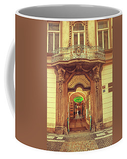 Coffee Mug featuring the photograph Entrance To Passage. Series Golden Prague by Jenny Rainbow