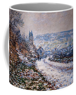 Entrance To The Village Of Vetheuil In Winter Coffee Mug
