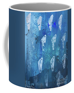 Coffee Mug featuring the painting Eolith II by Robin Maria Pedrero