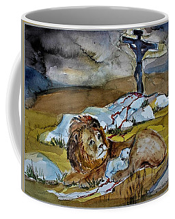 Coffee Mug featuring the painting Ephesians 2 13 by Mindy Newman