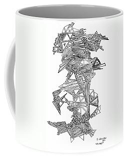 Epitaxy Ink Drawing By Regina Valluzzi Coffee Mug