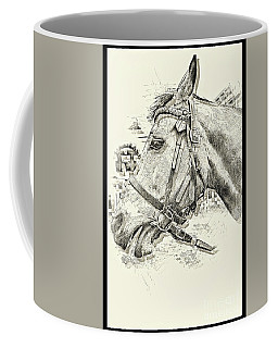 Equine Sketch Newmarket I Coffee Mug by Jack Torcello
