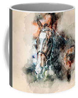 Equine Watercolour I Coffee Mug by Jack Torcello