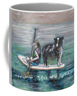 Erin And Oakie On The Paddle Board Coffee Mug