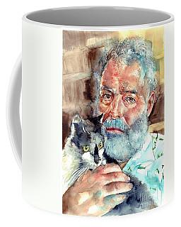Ernest Hemingway Watercolor Coffee Mug