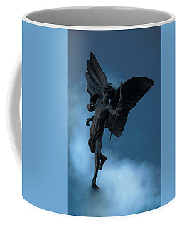 Coffee Mug featuring the photograph Eros At Picadilly Circus by Steven Richman