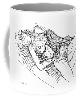 Coffee Mug featuring the drawing Erotic Art Drawings 7 by Gordon Punt