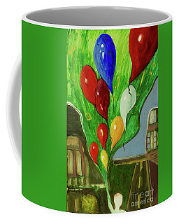 Coffee Mug featuring the painting Escape by Paul McKey