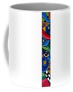 Colorful Abstract Art Painting, Modern Art Brown Eye Art Paintings Coffee Mug