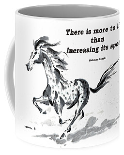 Coffee Mug featuring the painting Escape With Gandhi Quote  by Bill Searle