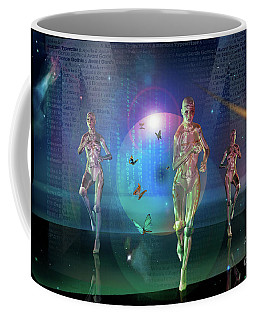 Coffee Mug featuring the digital art Escaping The  Matrix by Shadowlea Is