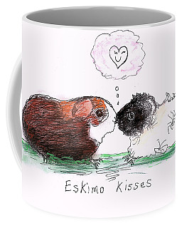 Coffee Mug featuring the drawing Eskimo Kisses by Denise Fulmer