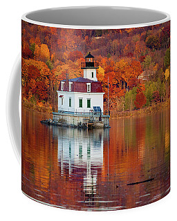 Esopus Lighthouse In Late Fall #2 Coffee Mug by Jeff Severson