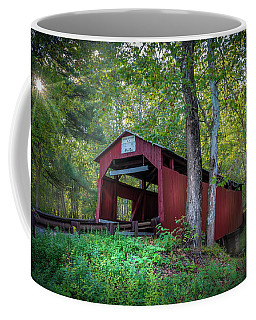 Coffee Mug featuring the photograph Esther Furnace Bridge by Marvin Spates