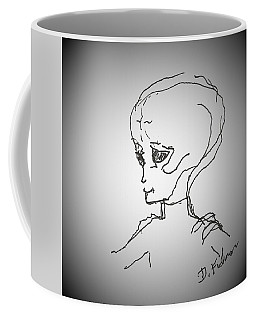 Coffee Mug featuring the drawing E T 1 by Denise Fulmer