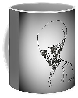 Coffee Mug featuring the drawing E T 2 by Denise Fulmer