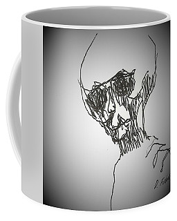 Coffee Mug featuring the drawing E T 3 by Denise Fulmer