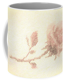 Coffee Mug featuring the photograph Etched Red Rose by Linda Phelps