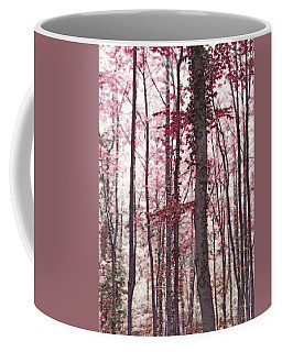 Ethereal Austrian Forest In Marsala Burgundy Wine Coffee Mug