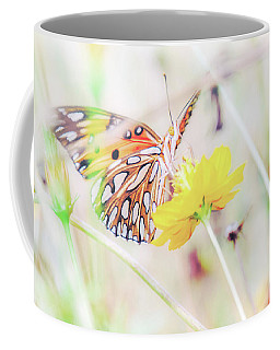 Coffee Mug featuring the photograph Ethereal Butterfly by Andrea Anderegg