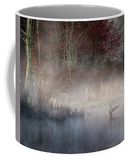 Coffee Mug featuring the photograph Ethereal Goose by Bill Wakeley