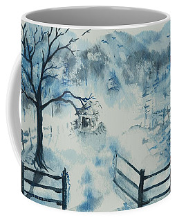 Coffee Mug featuring the painting Ethereal Morning  by Reed Novotny