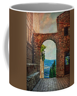 Coffee Mug featuring the photograph Etruscan Arch by Hanny Heim