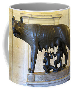 Etruscan Bronze Statue Of The She-wolf With Romulus And Remus. Capitoline Museum. Capitoline Hill. R Coffee Mug