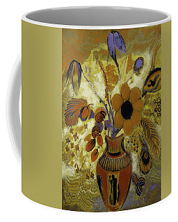 Coffee Mug featuring the painting Etrusian Vase With Flowers by Odilon Redon