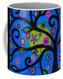 Coffee Mug featuring the painting Etz Chayim by Pristine Cartera Turkus