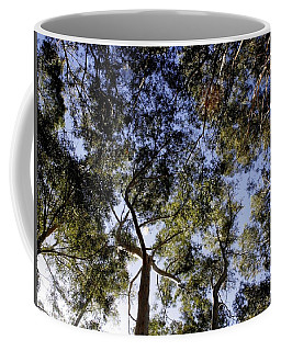 Coffee Mug featuring the painting Eucalyptus Tree Canopy by Tracey Harrington-Simpson