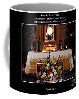 Coffee Mug featuring the photograph Eucharist I Am The Bread Of Life by Rose Santuci-Sofranko