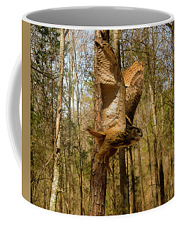 Eurasian Eagle Owl In Flight Coffee Mug