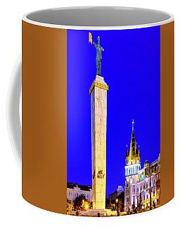 Coffee Mug featuring the photograph Europe Square by Fabrizio Troiani