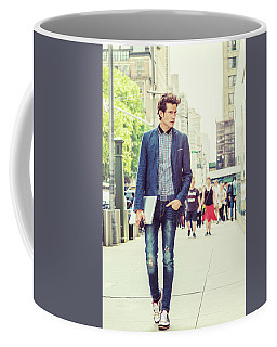 European College Student Studying In New York Coffee Mug