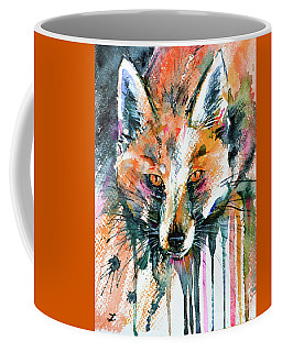 European Red Fox Coffee Mug by Zaira Dzhaubaeva
