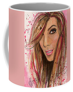 Coffee Mug featuring the painting Eva Longoria by P J Lewis