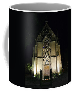 Coffee Mug featuring the photograph Evening At Loretto Chapel Santa Fe by Kurt Van Wagner