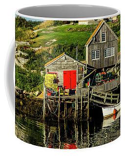 Evening At Peggys Cove Coffee Mug by Ken Morris
