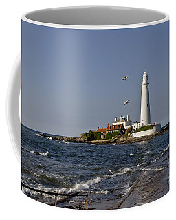 Evening At St. Mary's Lighthouse Coffee Mug