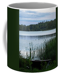 Evening At The Lake With Two Mallards Coffee Mug