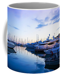 evening at water in Cannes Coffee Mug