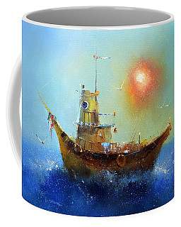 Evening Boat Coffee Mug