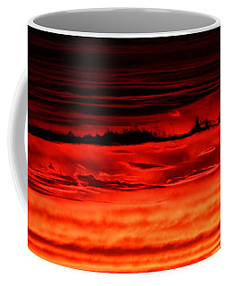 Coffee Mug featuring the photograph Evening Clouds by William Selander