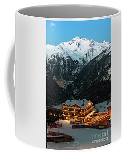 Evening Comes In Courchevel Coffee Mug