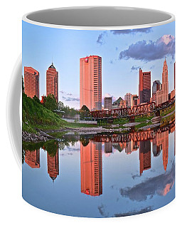 Coffee Mug featuring the photograph Evening Falls In Columbus by Frozen in Time Fine Art Photography