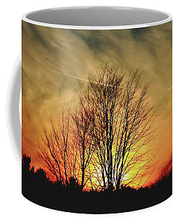 Coffee Mug featuring the photograph Evening Fire by Bruce Patrick Smith