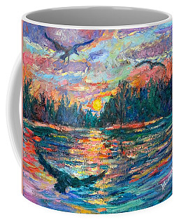 Coffee Mug featuring the painting Evening Flight by Kendall Kessler